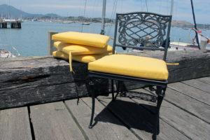 Bright yellow cushions