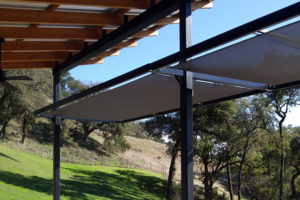residential custom tension awning